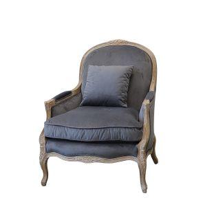 Elenor Chair Charcoal Velvet