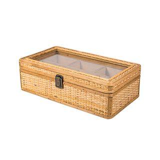 Natural Rattan Pigeonhole Storage Box Medium