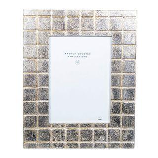 """Silver Grid Frame 5x7"""""""