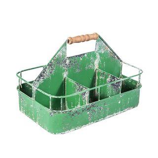 Vintage Metal Seed Crate