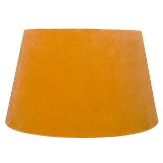 Velvet Drum Shade Mustard