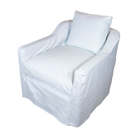 Dume Chair White Cotton Cover Only