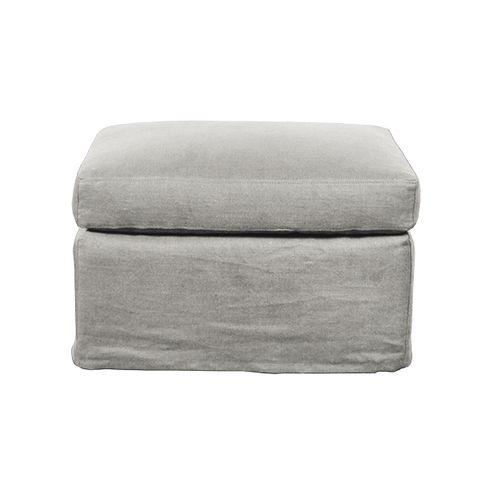 Dume Ottoman Soft Grey Cotton