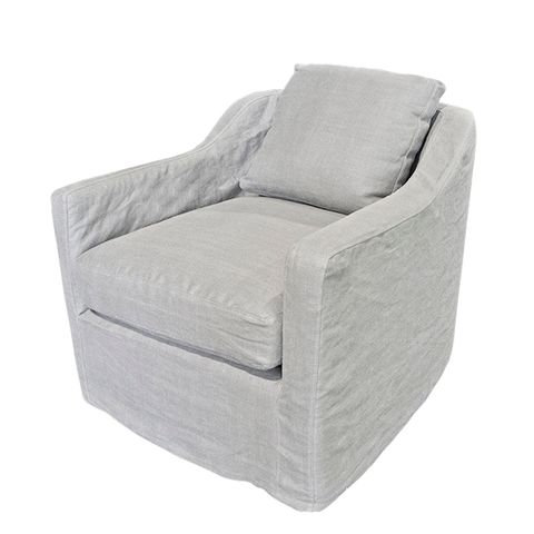 Dume Chair Soft Grey Cotton Cover Only