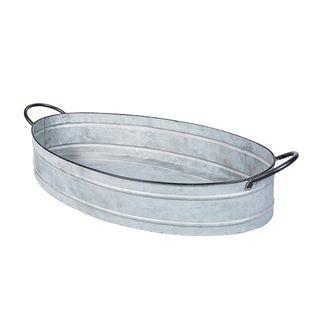 Oval Zinc Tray Small