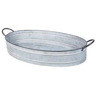 Oval Zinc Tray Large