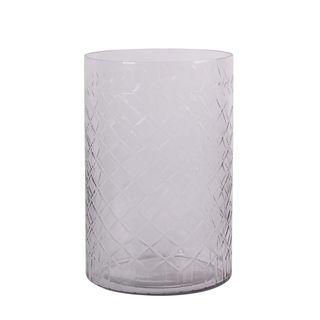 Cross Cut Straight Sided Vase Large