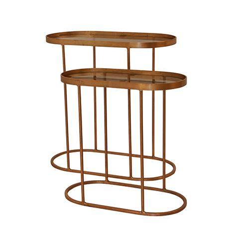 SET 2 Oval Brass Tables