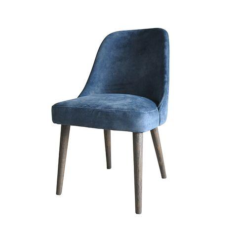 Wilthem Dining Chair Blue Velvet