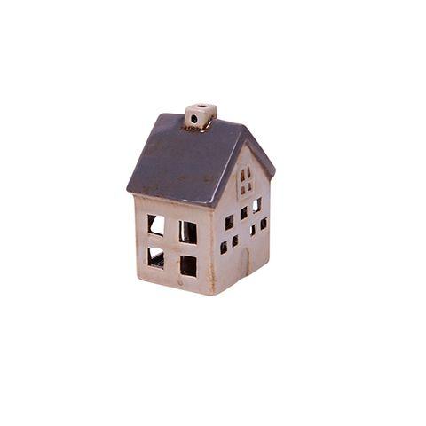 Petite Chalet Tea Light House Grey