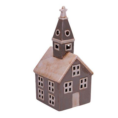 Alsace Tealight Church Grey