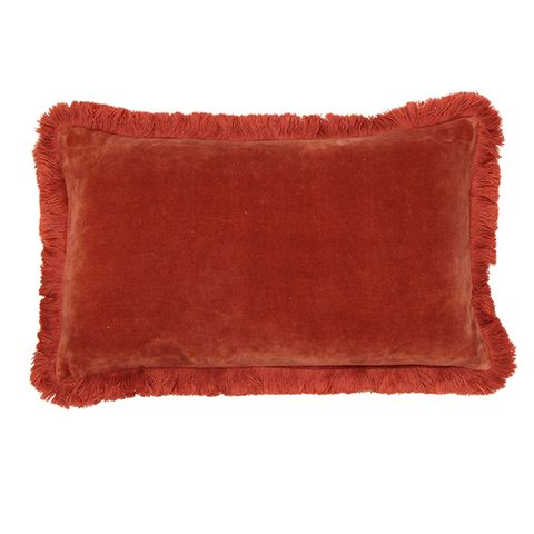 Boudoir Rust Fringed Cushion