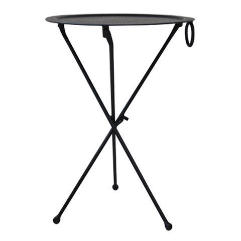 Round Black Atlas Table
