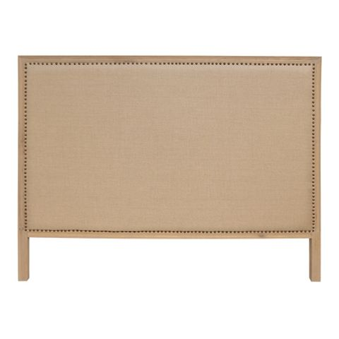 Studded Bed Head Natural Linen King