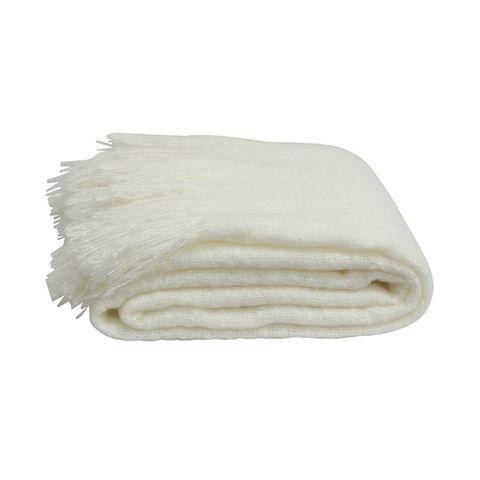 Throw Tassle Off White