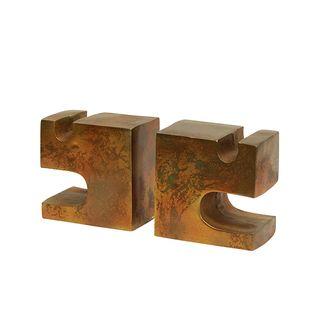 Bookends - Cubist Block