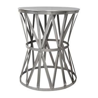 Small Nickel Drum Table