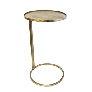 Small Gold Circle Couch Side Table