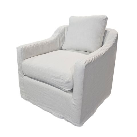Dume Chair Sand Linen Cover Only