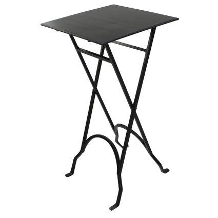Square Black Iron Side Table