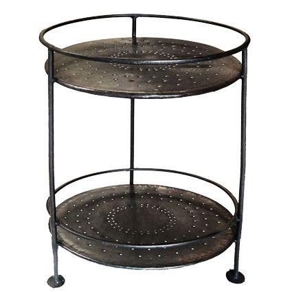 Iron 2 Tiered Round Table