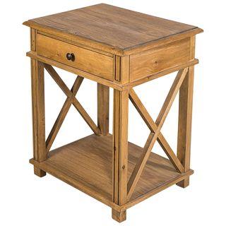 Villa Oak Bedside Table