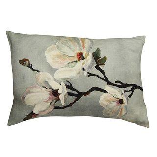 Magnolia Light Blue Rectangle Cushion