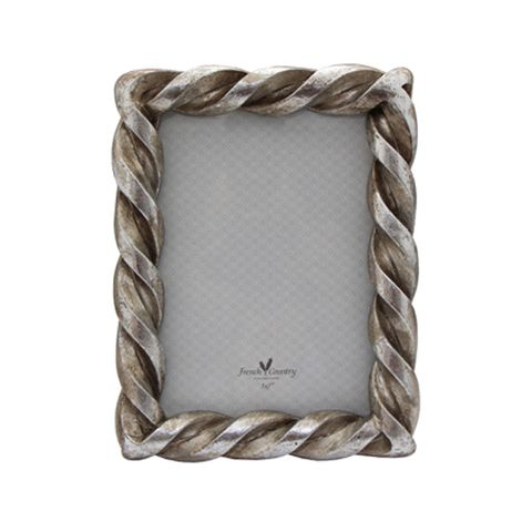 """Rope Rectangle Pewter  5x7"""""""