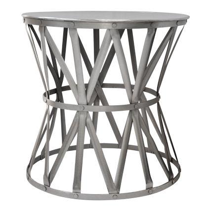 Large Nickel Drum Table