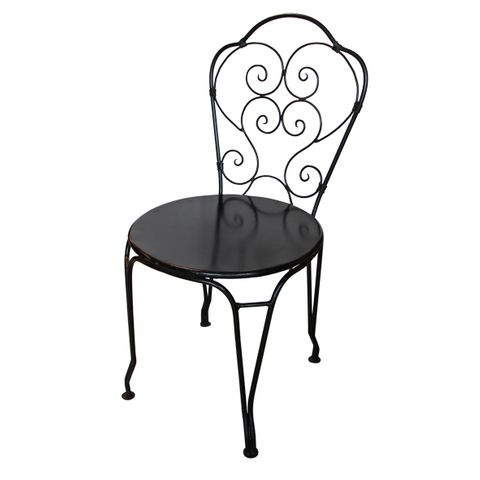 Paris Black Iron Chair