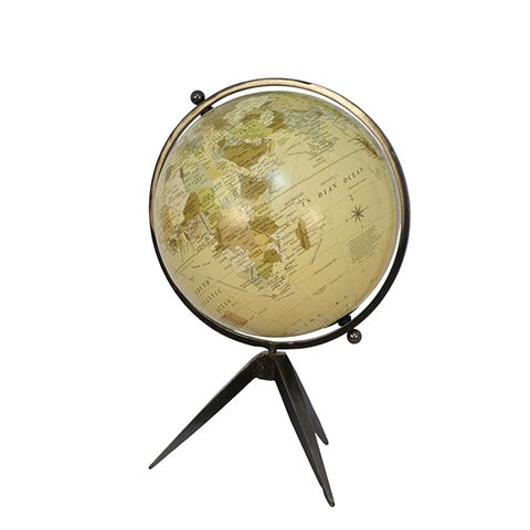Natural Globe on Tripod Stand