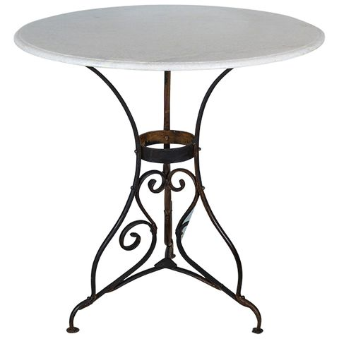 Round Paris Table Marble Top