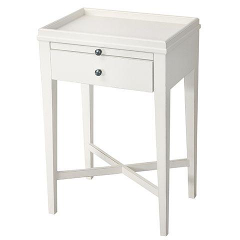 Saskia Bedside Table White
