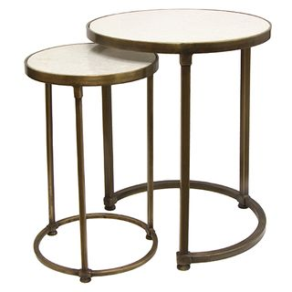 Set 2 Round Gold Nesting Tables