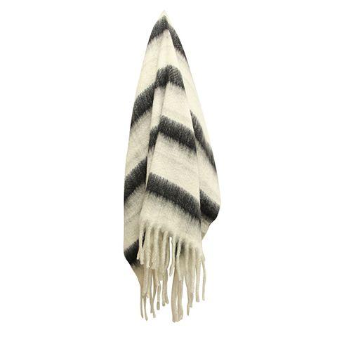 Zag Charcoal Stripe Throw