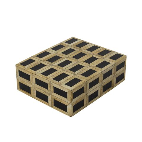 Black and Natural Square Box