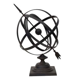 Large Iron Sphere 58cmHx35cmD