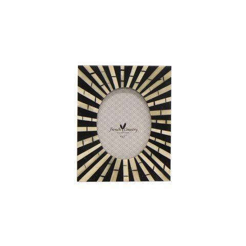 """Zebra Oval Photo Frame 4x3"""""""