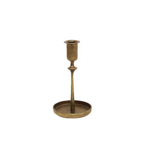 Raine Taper Gold Candleholder