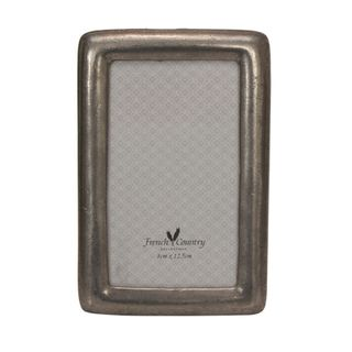 Rounded Pewter Photoframe 5x3.5""