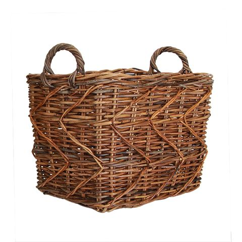 Provence Storage Basket Rustic Brown Small