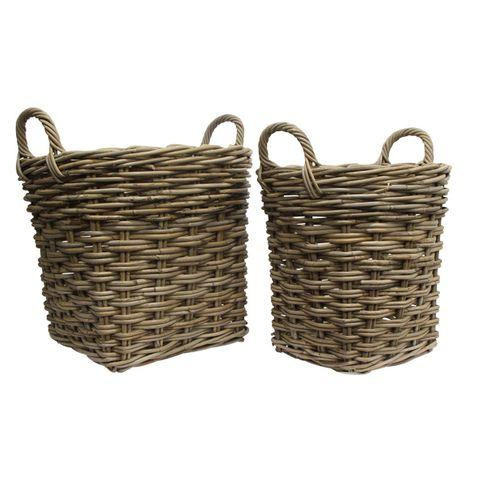Grove Set 2 Round Wood Basket