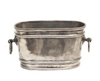 Oval Champagne Bucket w/ Rings