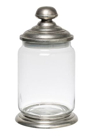 Glass and Pewter Storage Jar