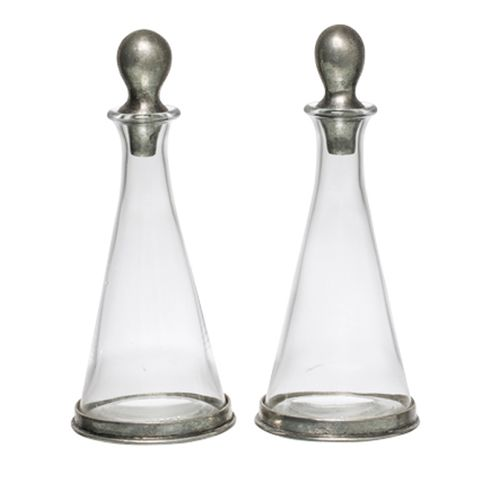 Cone Shape Oil and Vinegar with out Stand