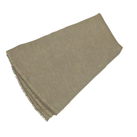 Bauble Taupe Round Tablecloth
