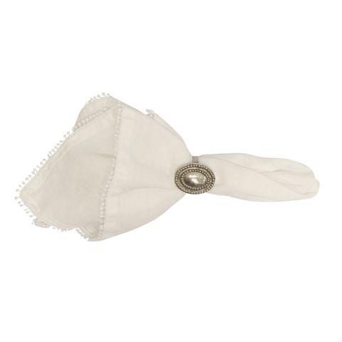 White Bauble Napkin