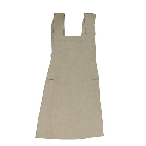Cross Back Apron Natural Stonewashed Linen