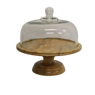 Ploughmans Board Cake Dome on Stand