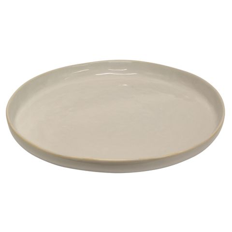 Franco Rustic White X-Large Serving Plate